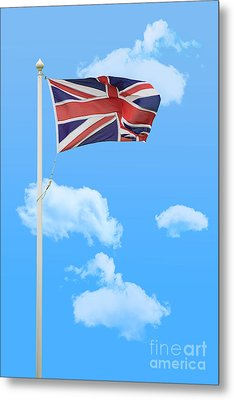 Flying Union Jack Metal Print by Amanda Elwell
