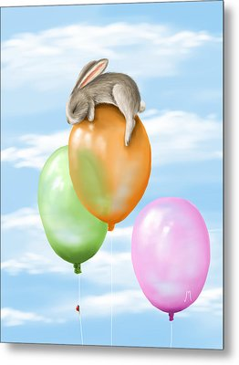 Flying Metal Print by Veronica Minozzi