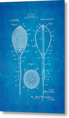 Flynn Merion Golf Club Wicker Baskets Patent Art 1916 Blueprint Metal Print