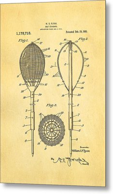 Flynn Merion Golf Club Wicker Baskets Patent Art 1916 Metal Print