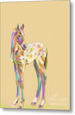Foal Paint Metal Print by Go Van Kampen