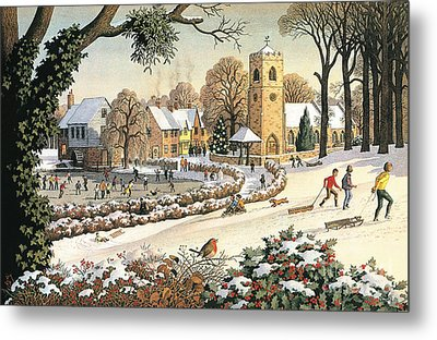 Focus On Christmas Time Metal Print