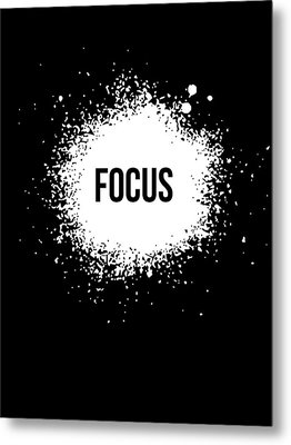 Focus Poster Black Metal Print
