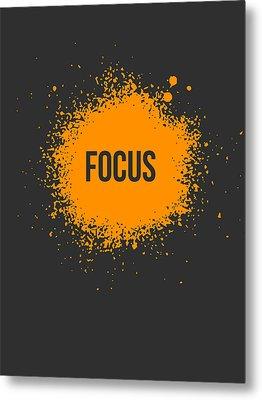 Focus Splatter Poster 3 Metal Print by Naxart Studio