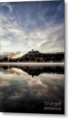 Metal Print featuring the photograph Fog At East Lake Winona by Kari Yearous