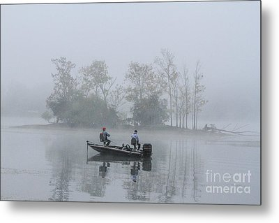 Metal Print featuring the photograph Fog Fishing by Geraldine DeBoer