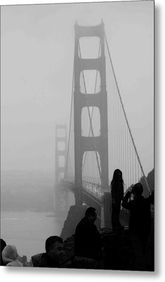 Fog Horn Kind Of Day Metal Print by Kandy Hurley