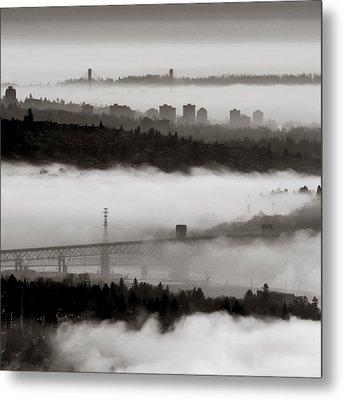 Fog Lanes Metal Print by R J Ruppenthal