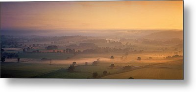 Fog Over A Landscape, Blackmore Vale Metal Print by Panoramic Images