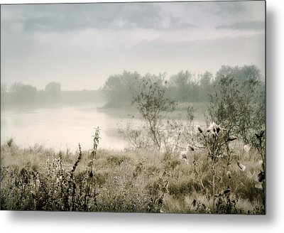 Fog Over The River. Stirling. Scotland Metal Print by Jenny Rainbow