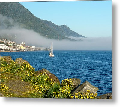 Metal Print featuring the photograph Fog Rolls In by Karen Horn