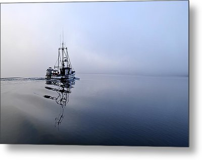 Foggy Metal Print by Cathy Mahnke