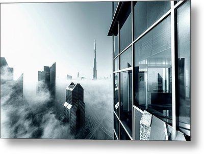 Foggy City Metal Print