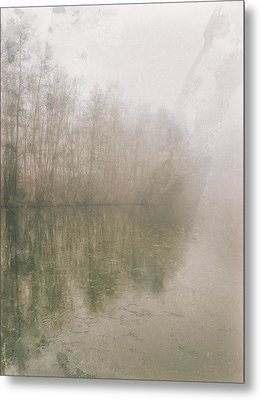 Metal Print featuring the photograph Foggy Day On The Border Of The Lake by Maciej Markiewicz