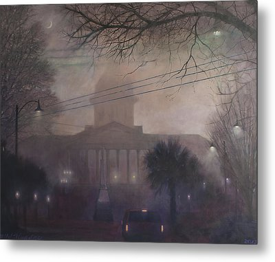 Foggy Dome Metal Print