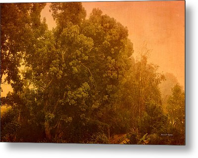 Foggy Drizzly City Morning Metal Print by Angela A Stanton