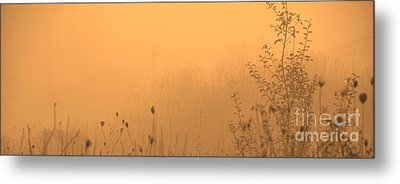 Foggy Fire Metal Print