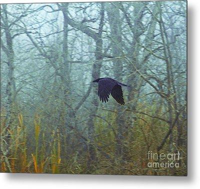 Foggy Flight Metal Print by Judy Wood