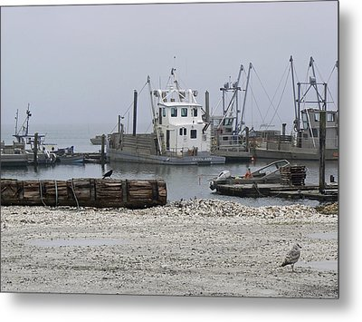 Foggy Harbor Metal Print by Pamela Patch
