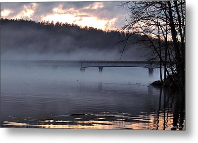 Foggy Highway 49 Bridge Metal Print by Matt Taylor