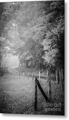 Foggy Loop Road Metal Print