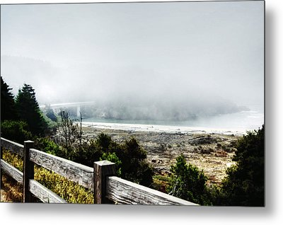 Foggy Mendocino Morning Metal Print