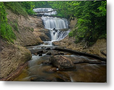 Foggy Morning At Sable Falls Metal Print