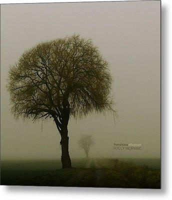 Foggy Morning Metal Print by Franziskus Pfleghart