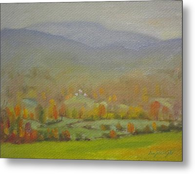 Metal Print featuring the painting Foggy Morning by Len Stomski