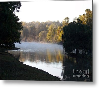 Foggy Morning On Lake Lanier Metal Print by Angelia Hodges Clay