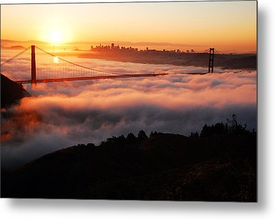 Metal Print featuring the photograph Foggy Morning San Francisco by James Kirkikis
