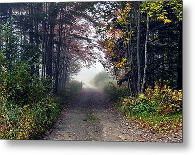 Foggy Morning - Stowe Vermont Metal Print