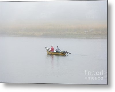 Foggy Nestucca Metal Print by Mike  Dawson