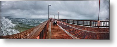 Metal Print featuring the digital art Foggy Pier  by Michael Thomas