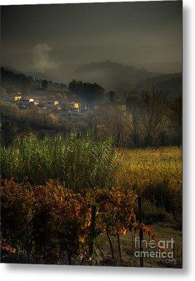 Foggy Tuscan Valley  Metal Print