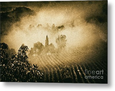 Metal Print featuring the photograph Foggy Tuscany by Silvia Ganora