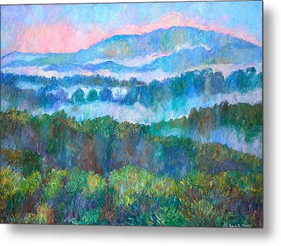 Foggy View From Mill Mountain Metal Print by Kendall Kessler