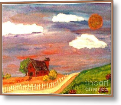Metal Print featuring the painting Folk Art by Bobbee Rickard
