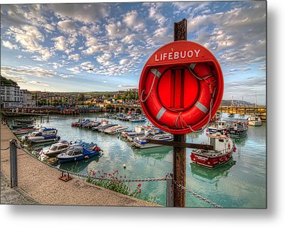 Metal Print featuring the photograph Folkstone Harbour by Tim Stanley