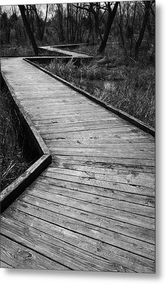 Follow The Boardwalk Metal Print