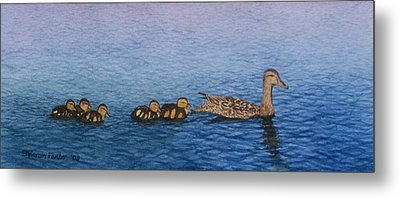 Follow The Leader II Metal Print by Sharon Farber