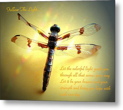 Follow The Light Metal Print by Joyce Dickens