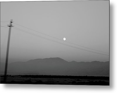 Follow The Moon Metal Print