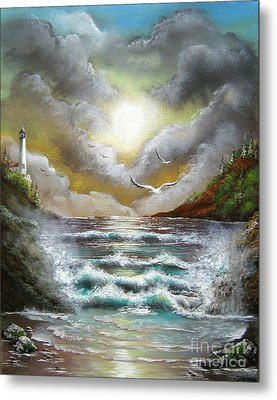 Metal Print featuring the painting Follow The Wind by Patrice Torrillo