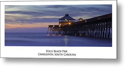 Folly Beach Pier Charleston Sc Metal Print