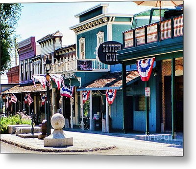 Metal Print featuring the photograph Folsom California Usa by Polly Peacock