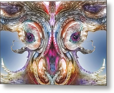 Metal Print featuring the digital art Fomorii Incubator Remix by Otto Rapp