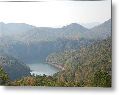 Fontana Lake Fall View Metal Print