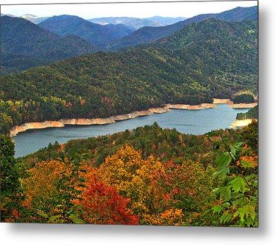 Fontana Lake In Fall Metal Print