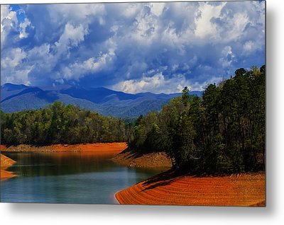 Fontana Lake Storm Metal Print by Chris Flees